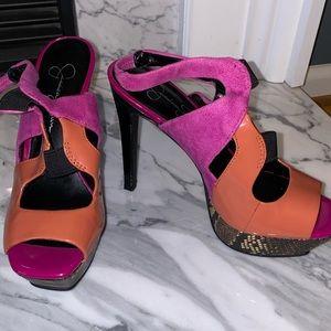 Jessica Simpson multi colored heels